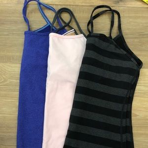 Lululemon Power Y Tank Tops - Set of 3